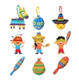 Colourful Indian Set Childish vector image vector image