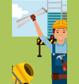 construction people workers vector image vector image