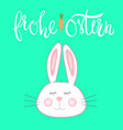 cute rabbit with eyes closed vector image vector image
