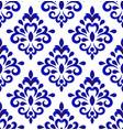 damask pattern design vector image vector image