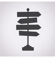 direction road sign icon vector image
