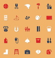DIY tool classic color icons with shadow vector image vector image