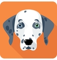 dog Dalmatian icon flat design vector image vector image