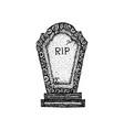 dotwork ancient gravestone vector image vector image