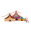 family going to circus big top tent weekend vector image vector image