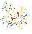 Firework white vector image vector image