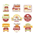 Food Truck Cafe Street Food Promo Signs Set Of
