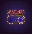 gamepad neon sign vector image vector image