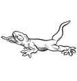 gecko tattoo in eps10 vector image vector image