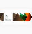 geometric polygonal background vector image