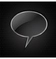 glass speech bubble on metal vector image vector image