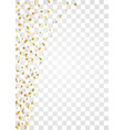 gold stars falling confetti frame isolated on vector image