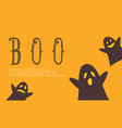 halloween background with cute ghost vector image vector image