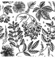 hand-sketched autumn seamless pattern elegant vector image