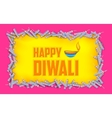 Happy Diwali background with diya and firecracke vector image vector image