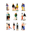 happy gay and lesbian couples set women and men vector image vector image