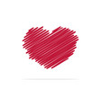 heart icon concept for design vector image