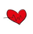 Heart medical healthcare vector image vector image