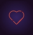 heart neon sign vector image vector image