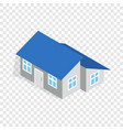 house with annexe isometric icon vector image vector image