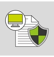 internet security document computer protection vector image vector image