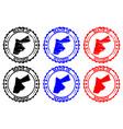 made in jordan rubber stamp vector image vector image