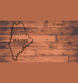 maine map brand vector image vector image
