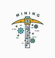 mining and earning cryptocurrency vector image