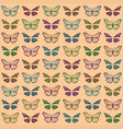 multicolored butterflies vector image vector image
