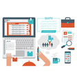 Online Job Searching Concept vector image