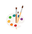 palette paint icon vector image