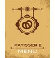 pastry menu vector image vector image
