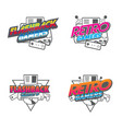retro flashback gamers vector image