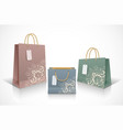 set colorful empty shopping bags vector image vector image