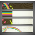 set of abstract colorful retro banners vector image