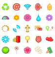 signpost icons set cartoon style vector image vector image
