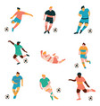 soccer players set male footballer characters in vector image vector image