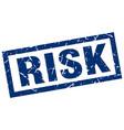 square grunge blue risk stamp vector image vector image