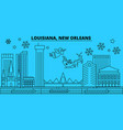 united states new orleans winter holidays skyline vector image vector image