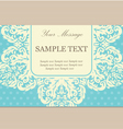 vintage floral card blue copy vector image vector image