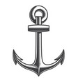 vintage monochrome nautical anchor template vector image vector image