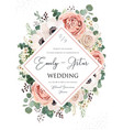 wedding invite invitation save date card vector image vector image