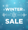 Winter sale and in the middle snowflake vector image