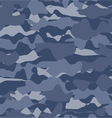 Military blue fashion seamless pattern vector image