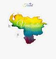 Travel around the world Venezuela Watercolor map vector image
