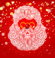 beard and mustache of santa claus vector image