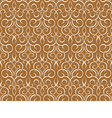 Repeating pattern on a brown seamless wallpaper vector image