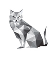abstract origami cat vector image vector image