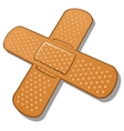 Adhesive bandage on a white background vector image vector image