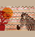 african print fabric ethnic savannah safari batik vector image vector image